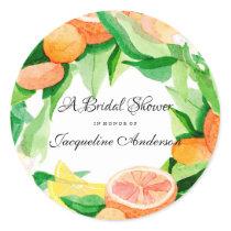 Favor Envelope Seal Citrus Wedding Bridal Shower