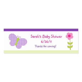 Favor feliz de la flor y de las mariposas/etiqueta plantilla de tarjeta personal