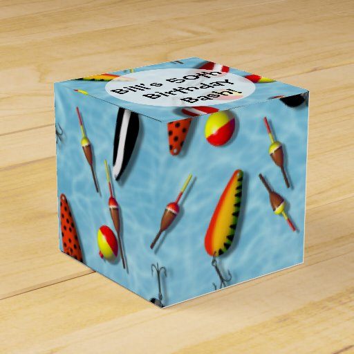 Favor gift box fishing bobs lures zazzle for Fishing gift box