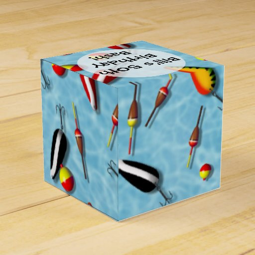 Favor gift box fishing bobs lures favor box zazzle for Fishing gift box