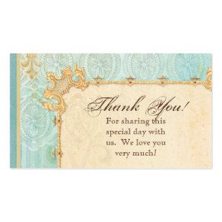Favor Gift Cards - Fleur di Lys Damask 2 - Wedding Business Card