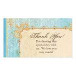 Favor Gift Cards - Fleur di Lys Damask 2 - Wedding Business Card Template