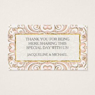 Favor Gift Tags Damask Pattern Swirl Gold