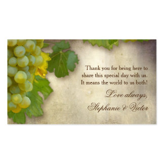 Favor Gift Tags DIY Chardonnay Grape Vineyard Art Business Card