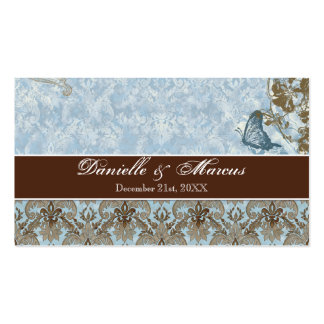 Favor Gift Tags - Fleur di Lys Damask vs 2 Double-Sided Standard Business Cards (Pack Of 100)