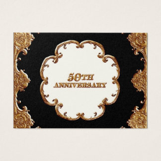 Favor Gift Tags  - Golden French Swirl 50th Anniv