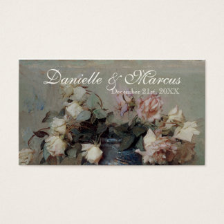 Favor Gift Tags  - Impressionist Cream Pink Roses