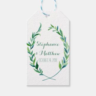 Favor Gift Tags Laurel Olive Wreath Leaf Wedding