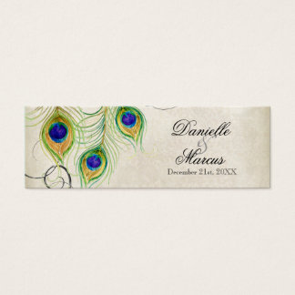 Favor Gift Tags - Peacock Feathers Wedding Set
