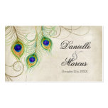 Favor Gift Tags - Peacock Feathers Wedding Set Business Card Template