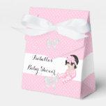 Favor lindo 2 del bebé de los lunares del rosa de  paquete de regalo para bodas