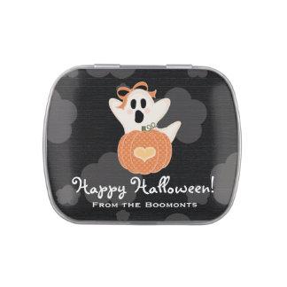 Favor lindo de Halloween del fantasma y de la cala Latas De Dulces