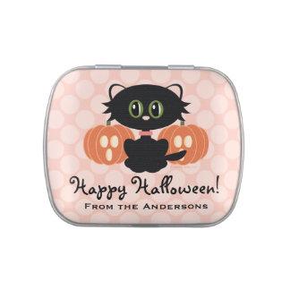 Favor lindo de Halloween del gato negro Jarrones De Caramelos