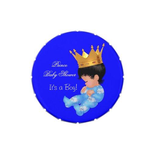 Favor lindo lindo del bebé del príncipe fiesta de  latas de dulces