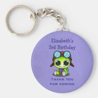 Favor lindo personalizado del cumpleaños de la llavero redondo tipo pin