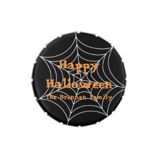 Favor negro del personalizado de Halloween de la t Frascos De Dulces