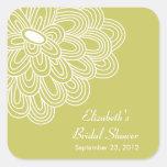 Favor nupcial de la ducha de las flores florales c pegatinas
