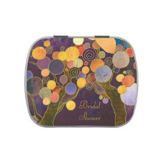 Favor nupcial púrpura de la ducha de los ÁRBOLES Frascos De Caramelos