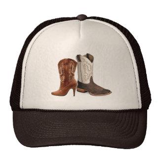 Favor occidental del boda de las botas de vaquero  gorras de camionero