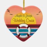 Favor personalizado boda de la travesía ornamentos de reyes
