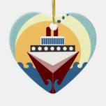 Favor personalizado boda del ornamento del barco ornaments para arbol de navidad