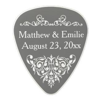 Favor personalizado del boda de la foto púa de guitarra de policarbonato
