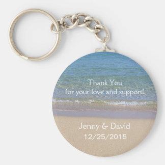 Favor personalizado playa del boda del llavero