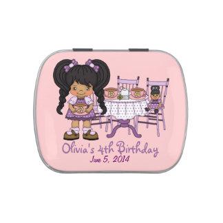 Favor púrpura del caramelo de la fiesta del té de  jarrones de caramelos