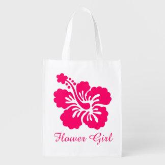Favor rosado brillante del florista del hibisco bolsas para la compra