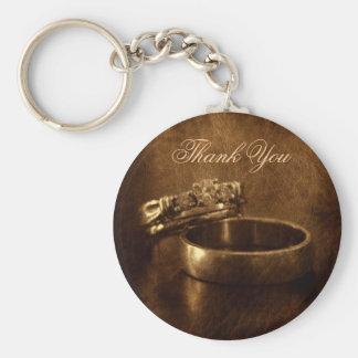 favor rústico del boda de los anillos de llavero redondo tipo pin
