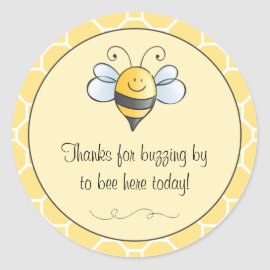 Favor Sticker   Bumble Bee