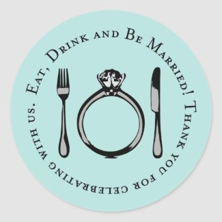 Favor Sticker | Eat, Drink and Be Married sticker