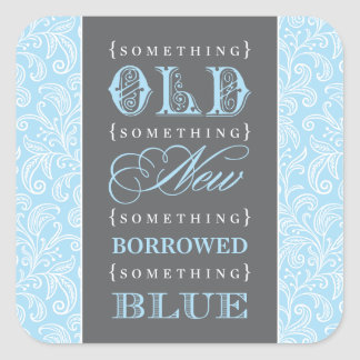 Favor Sticker | Something Old, New, Borrowed, Blue