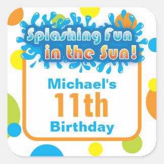 Favor Sticker - Splashing Fun in the Sun