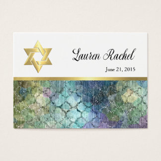 Favor Tag Abstract Shimmery Pastel Pattern