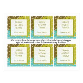 Favor Tags Floral Burst Post Cards