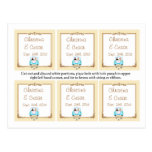 Favor Tags Just got Married Couple Postcard