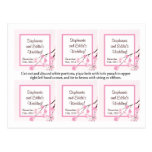 Favor Tags Pink Cherry Blossom Postcard