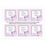 Favor Tags Purple Hydrangea Postcard