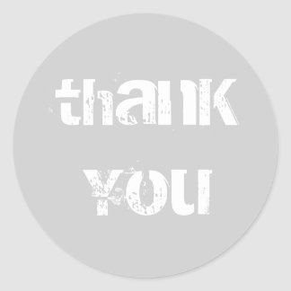 Favor Thank You Classic Round Sticker