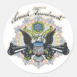 Favorable 2da enmienda Arma-Toting el engranaje de Etiquetas Redondas