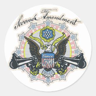 Favorable 2da enmienda Arma-Toting el engranaje de Pegatina Redonda