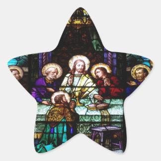 FAVORABLE ADAPTABLE CATÓLICO DE JESÚS CRIST DE LA PEGATINA EN FORMA DE ESTRELLA