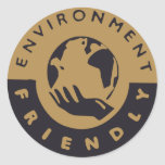Favorable al medio ambiente pegatinas redondas