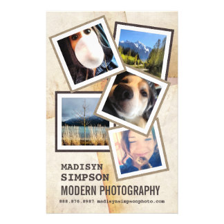 "Favorable anuncio moderno del fotógrafo folleto 5.5"" x 8.5"""