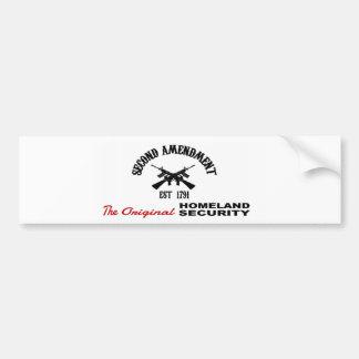 FAVORABLE ARMA: ENMIENDA ORIGINAL de la SEGURIDAD  Etiqueta De Parachoque