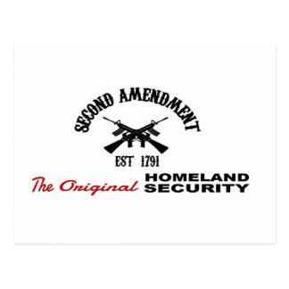 FAVORABLE ARMA: ENMIENDA ORIGINAL de la SEGURIDAD Postal