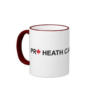 Favorable atención sanitaria Canadá Taza