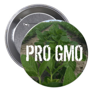Favorable botón de GMO Pin Redondo De 3 Pulgadas