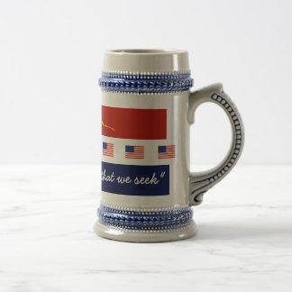 Favorable cambio patriótico taza de café